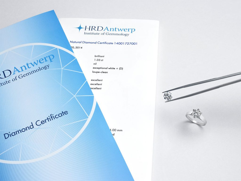 HRD Antwerp certificate