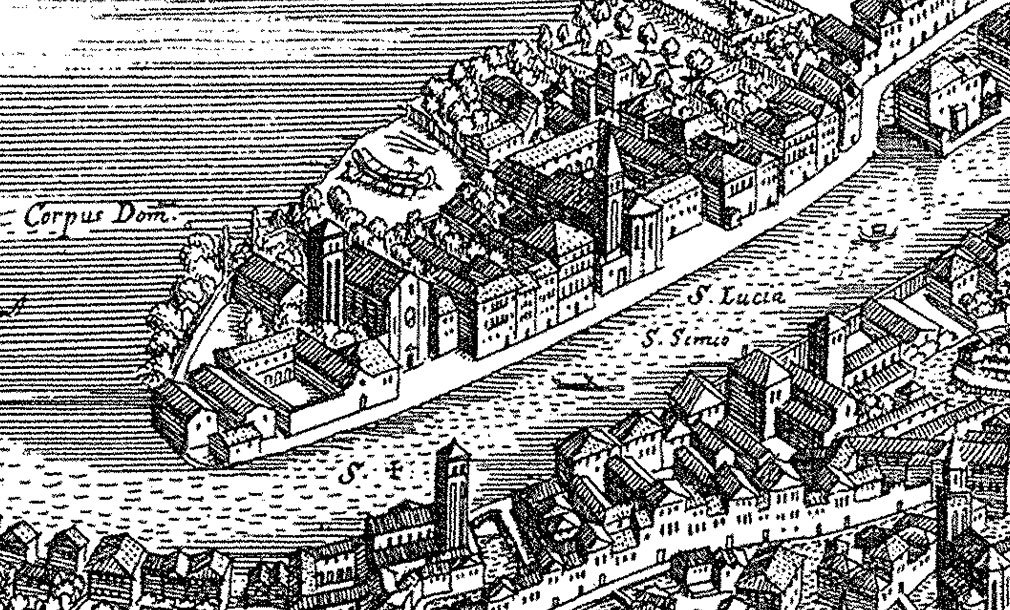 Old Venice - A detail from the Merian map of 1635