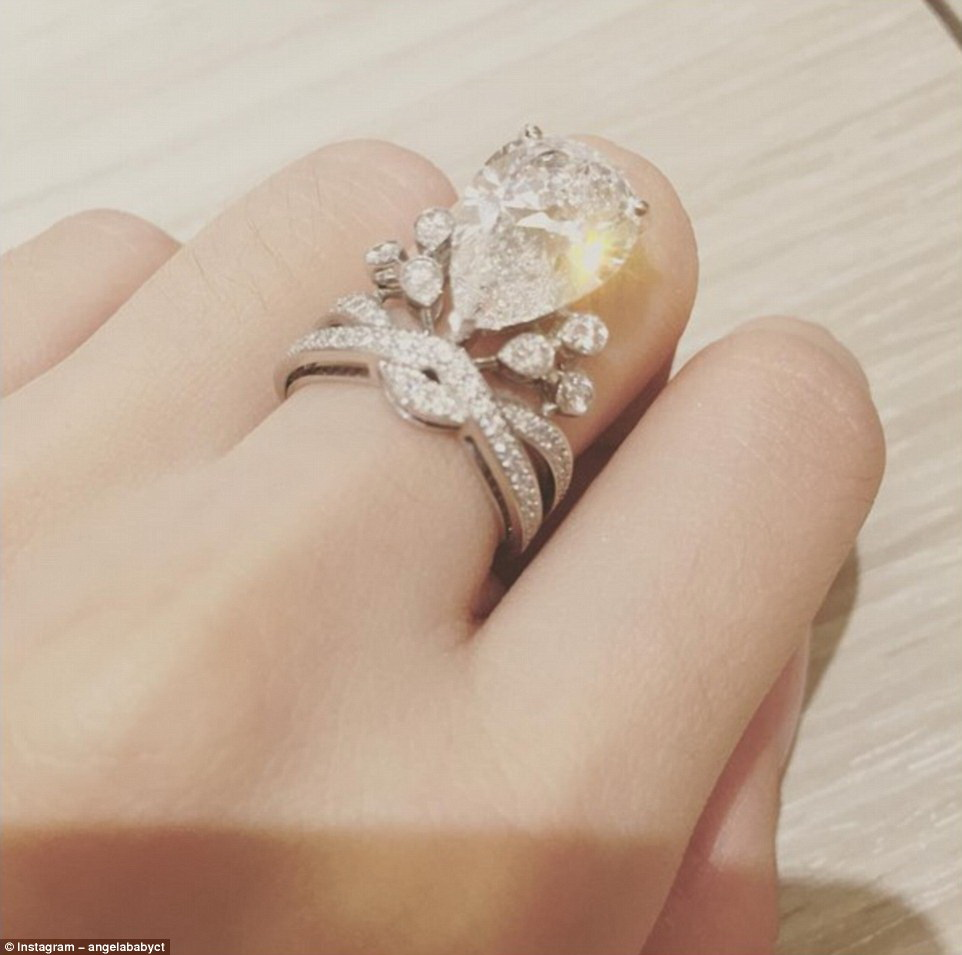 Angelababy Diamond Ring